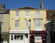 Terraced shopfronts, Newport, Isle of Wight